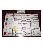 Shapes flash cards. Preschool and Pre Kindergarten learning activity. 20 cards