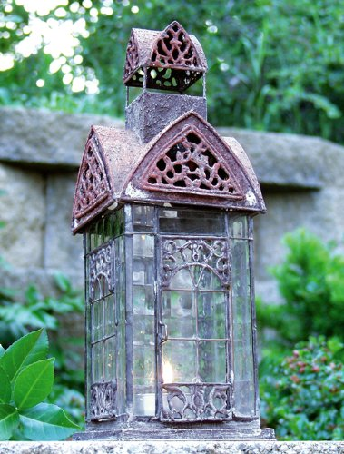 English Manchester Architectural Lantern Tea Light Candle Holder - ChristmasTablescapeDecor.com