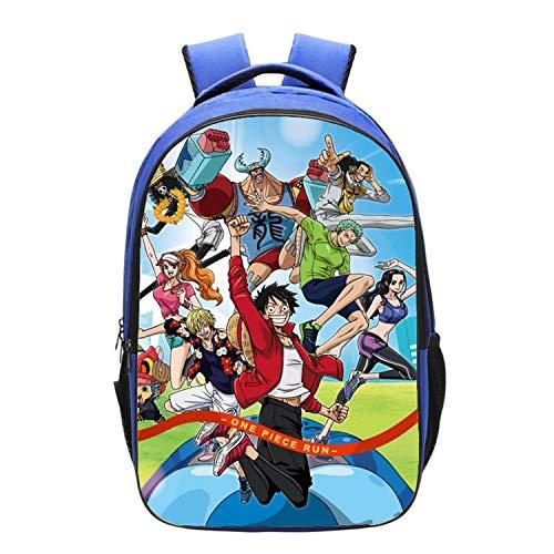 GFDSH Mochila Escolar de One Piece para niños Impresa en 3D ...