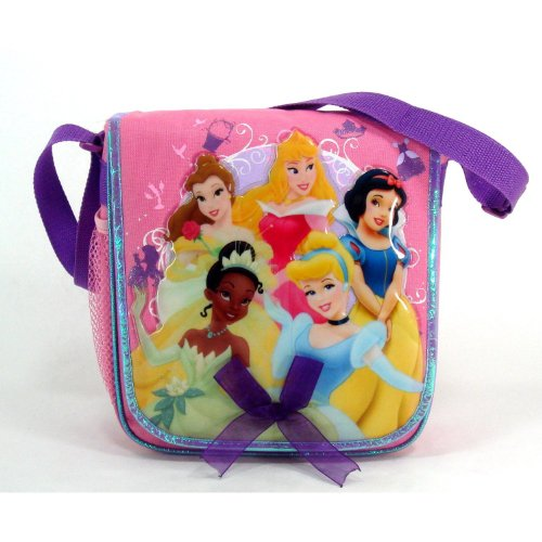 Princess Insulated Lunch Tote Featuring Cinderella, Snow White, Belle, Tiana, and Sleeping Beauty