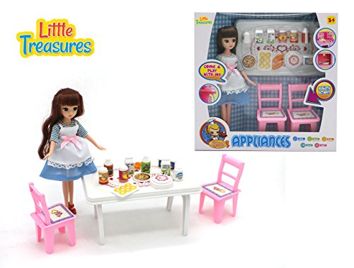 Little Treasures Appliances by 16 pieces toy kitchen/dining
