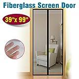 Magnetic Screen Door Fiberglass Mesh, Heavy Duty Curtain Size 39