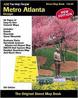 Adc The Map People Metro Atlanta Georgia American Map Regional