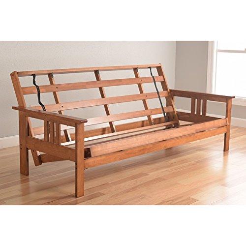 Somette Beli Mont Multi-flex Honey Oak Full-size Wood Futon Frame Golden Oak Futon Frame