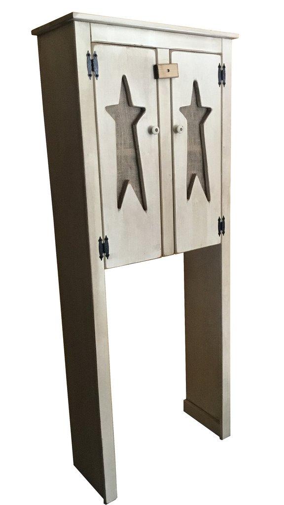 amazon com primitive rustic country wooden over the toilet cabinet rh amazon com  light oak over the toilet cabinet