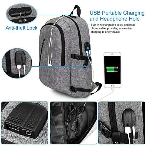 YIDUGO Laptop Bag for Women Men,Anti College Bookbag,Slim Backpack Fits up Laptop