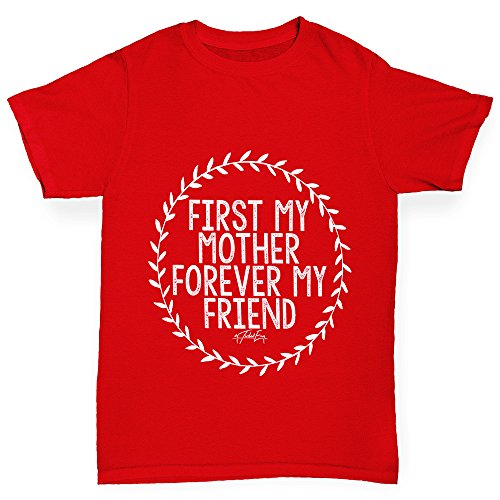Boy's First My Mother Forever My Friend Cotton T-Shirt Age 9-11 - Sunglasses Massive Joke