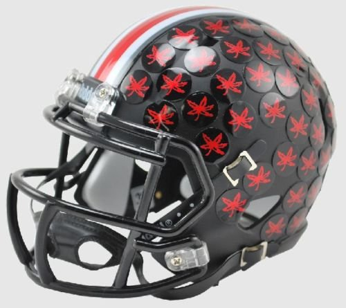 Ohio State Riddell Mini Helmet (Ohio State Buckeyes 2015 Black Matte Riddell Speed Mini Football Helmet)