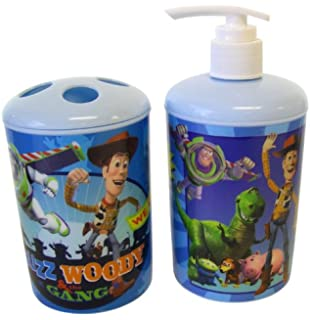 Disney Pixar 2pc Toothbrush Holder and Soap Dispenser Toy Story Bath Set   Toy  Story Toothbrush. Amazon com  Toy Story 3 Shower Curtain Hooks  Set of 12   Home