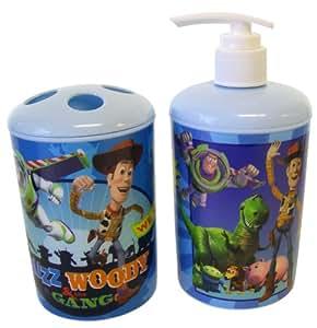 Amazon Com Disney Pixar 2pc Toothbrush Holder And Soap