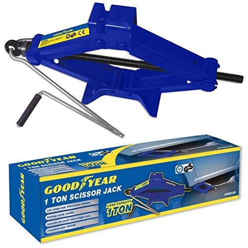 Goodyear 1 Ton Professional Scissor Jack For Car Van Speed Wind