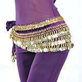 MUNAFIE Women's Belly Dance Coin Belt Hip Scarf