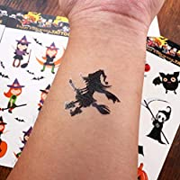 Lurrose 6 hojas tatuajes de halloween para niños festival tatuajes ...