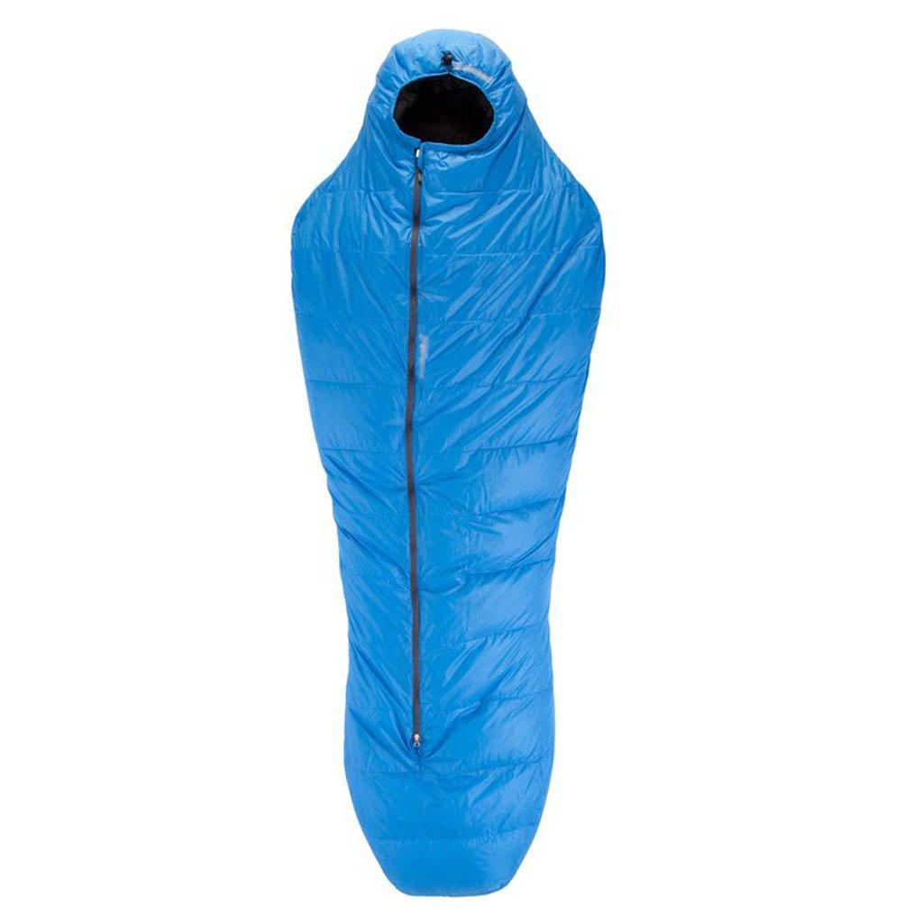 寝袋、旅行キャンプ快適な屋内屋外の軽量コンパクト大人 B07DG7Z88M  青