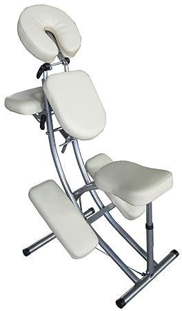 en soldes aa22a 9395c Chaise de massage - Aluminium - Sac inclus - Blanc