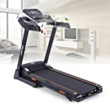 Lontek T500 Electric Treadmill, Easy Folding System, 3 Inclines, Running App Compatible, Cooling Fans, Bottle and Tablet Holders