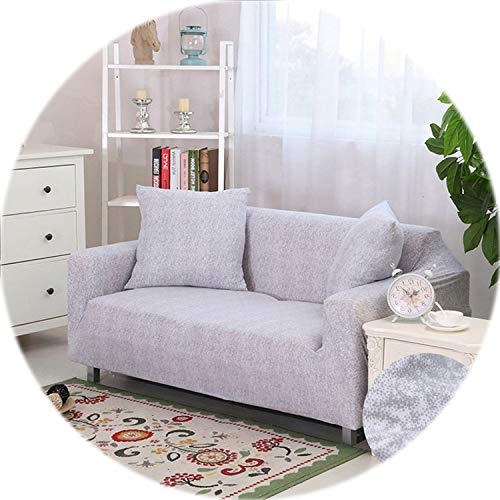 Elastic Stretch Sectional Cover Wrap All-Inclusive Sofa Cover for Living Room Couch Cover L Shape Loveseat Single/Two/Three seat,Color 7,Cushion Cover 2pcs ()
