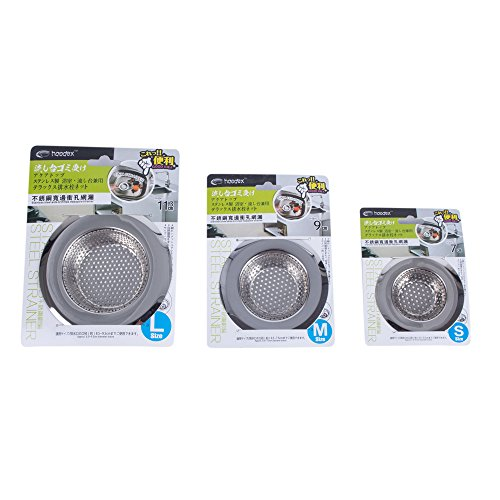Sink Strainer 3 PCS Stainless-Steel Kitchen Sink Strainer Drainer Basin Filter