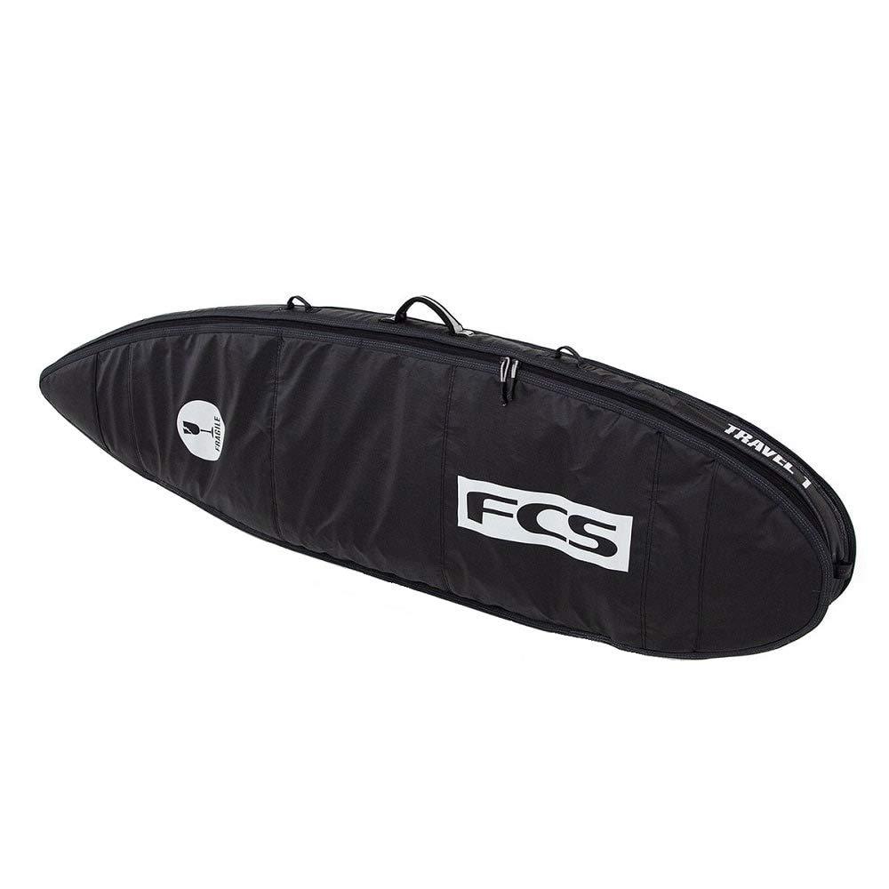 FCS Travel 1 Fun Board Surfboard Bag Black/Grey 6'0'' by FCS