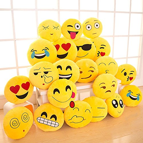 14″ Emoji Pillow (set of 12) Assorted Emojis