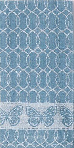 (Kay Dee Designs R3507 My Garden Journal Butterfly Jacquard Tea Towel, Sky Blue)