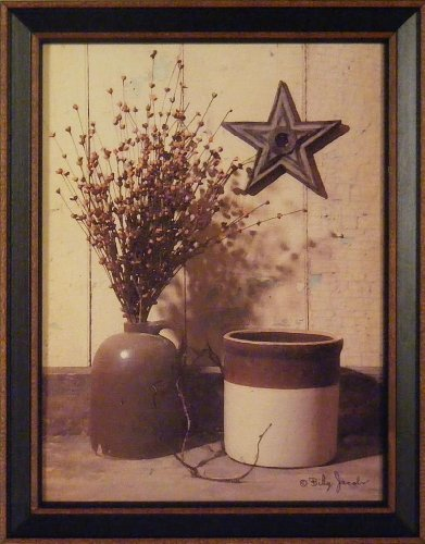 Crocks and Star by Billy Jacobs 15x19 Antique - Primitive Decor Pictures