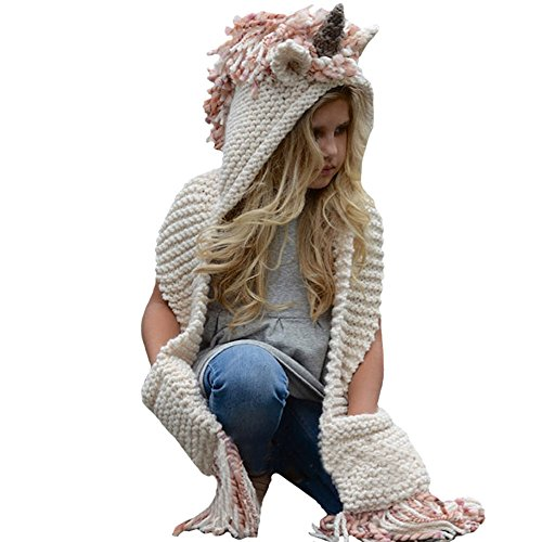 knitted scarf with hood - 6