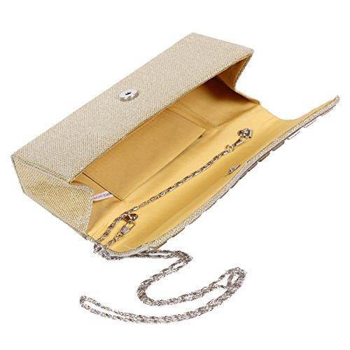 Womens Gauze Edge Crystal Chic Damaara Fuchsia Handbag Glittery Studded z1qwzdv