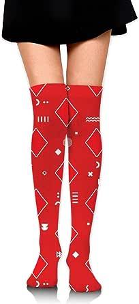 RGFDF Calcetines personalizados de diamante rojo de póker