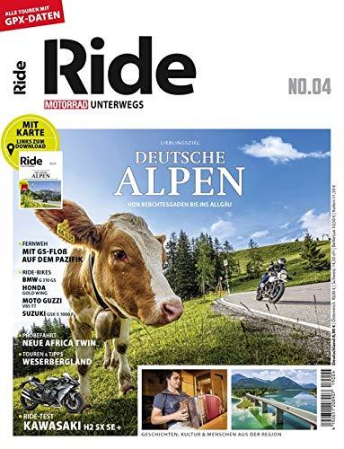 RIDE   Motorrad Unterwegs No. 4  Deutsche Alpen