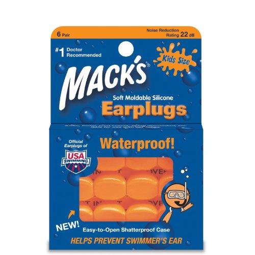 Mack's Pillow Soft Earplugs, Hot Orange, Kid Size (Pack of 3)