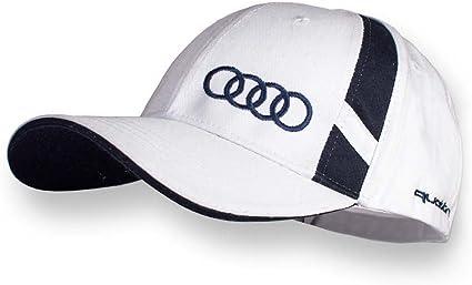 Audi blanco brillante Gorra Audi Quattro Logo nueva Colección 2016 ...