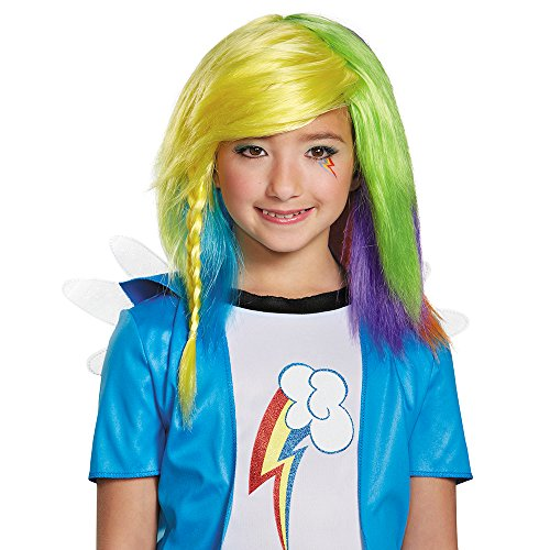 Disguise 85518 Rainbow Dash Equestria Wig Costume Child by Disguise