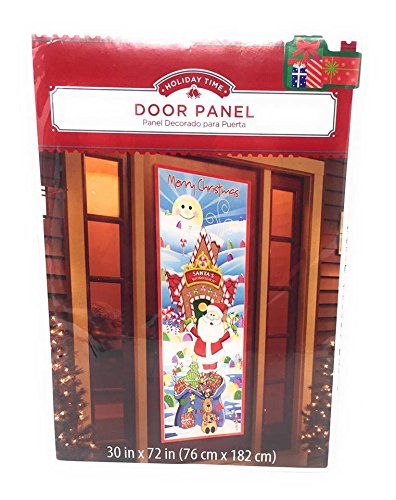- Christmas Holiday Santa's Workshop Door Panel Cover ~ Measures 30 x 72