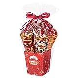 Popcornopolis Gourmet Popcorn 5 cone Snowflakes Gift Basket – Premium