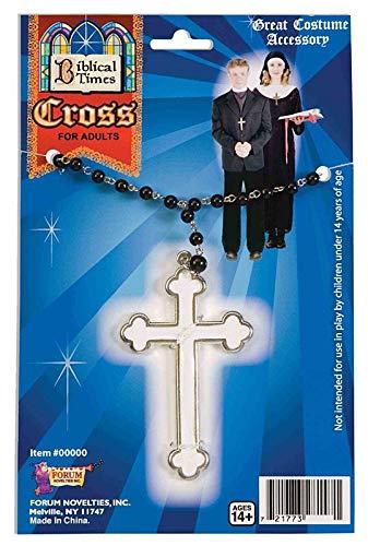 Forum Novelties White Cross Necklace ()