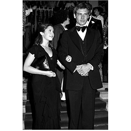 (Carrie Fisher at Black Tie Event with Harrison Ford 8 x 10 Inch Photo)