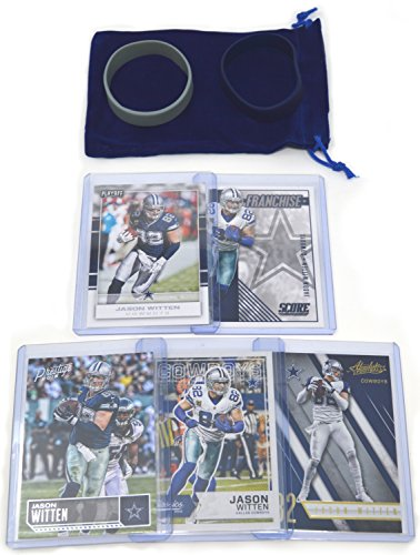 Jason Witten Football Cards Gift Bundle - Dallas Cowboys (5) Assorted Trading Cards ()