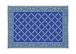 Reversible Mats 119123 Blue/Light Green 9\'x12\' RV Garden Mat