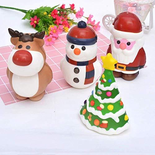 Kawaii Christmas Series Santa Claus Squishy Christmas Tree Squishies Jumbo Slow Rising (A)