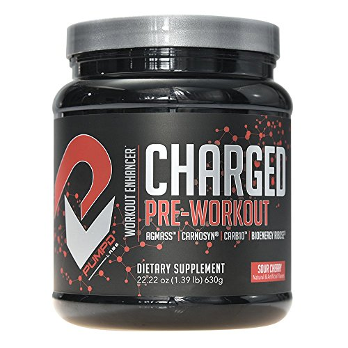 PUMPD Labs CHARGED Pre-Workout Powder - Agmatine Sulfate, Carnosyn Beta-Alanine, Carb10, D-Ribose, Betaine, Highly Branched Cyclic Dextrin, BCAA's and Creatine Monohydrate - 30 Serv. - Sour Cherry (Pump Creatine Fuel)