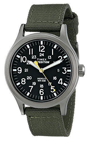 Timex Men's T49961 Expedition Scout Green Nylon Strap Watch - Hour Dial Green Nylon Strap