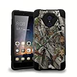 ZTE Max Duo LTE Z963VL / Z962BL - [Real Tree Camo] Premium Dual Layer Slim Fit [Impact Resistant] Tough Rugged Armor Kickstand Cover Case and Atom LED