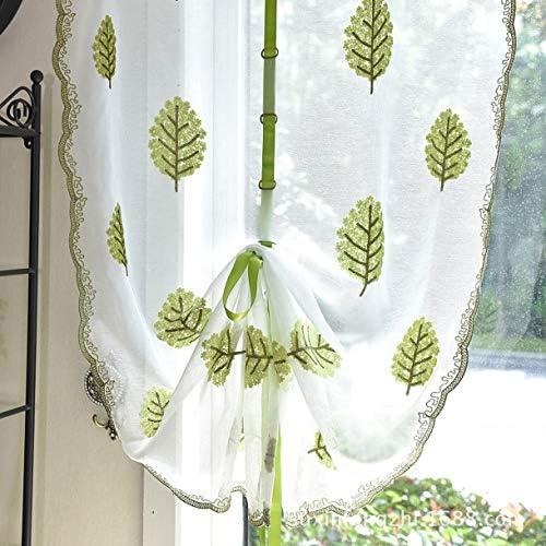 QinKingstore リネン刺繍布カーテン高さ家庭用実用的で耐久性のある