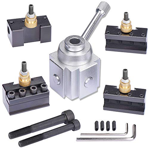 - JWGJW 120034 Tooling Package Mini Lathe Quick Change Tool Post & Holders Multifid Tool Holder