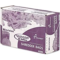 Stout Shredder Bags, 39 X 51, Clear, 0.80 Mil, Rolled, 50/Cs - S3951c80