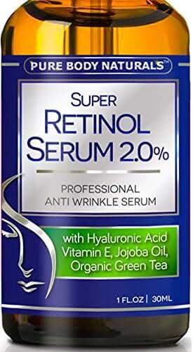 Pure Body Naturals Retinol Serum Anti Aging Anti Wrinkle Serum, 1 oz