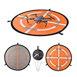 "32"" Fast-fold Double-Sided Quadcopter Landing Pad Day and Night Reflective RC Drone Helicopter Launch Waterproof Helipad for DJI Mavic Pro Phantom 2/3/4 inspire Syma Yuneec"