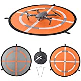 XCSOURCE 32 Fast-fold Double-Sided Quadcopter Landing Pad Day and Night Reflective RC Drone Helicopter Launch Waterproof Helipad for DJI Mavic Pro Phantom 2/3/4 inspire Syma Yuneec