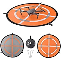 32 Fast-fold Double-Sided Quadcopter Landing Pad Day and Night Reflective RC Drone Helicopter Launch Waterproof Helipad for DJI Mavic Pro Phantom 2/3/4 inspire Syma Yuneec